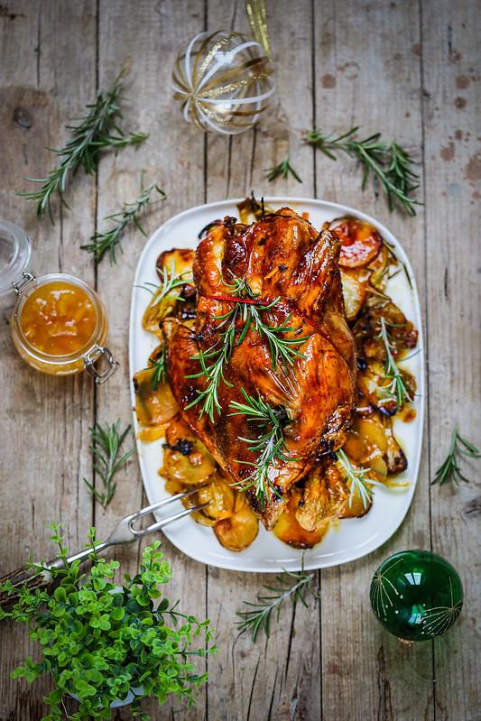 Chapon ou poulet orange recette fetes