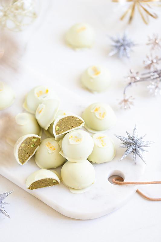 Chocolats blancs pistache recette maison facile