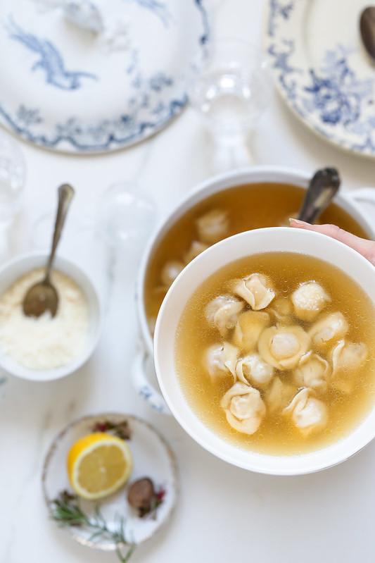ravioli bouillon recette italienne noel video
