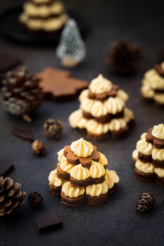 Sapins noel brownie mousse caramel recette facile