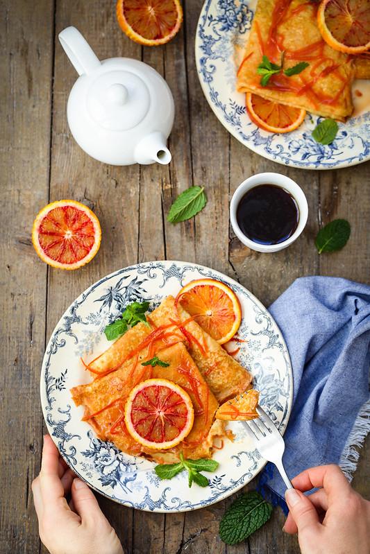 Crepes sauce orange facon suzette recette facile
