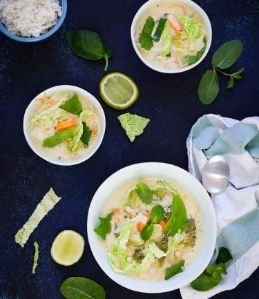 Curry vegetarien hiver thai