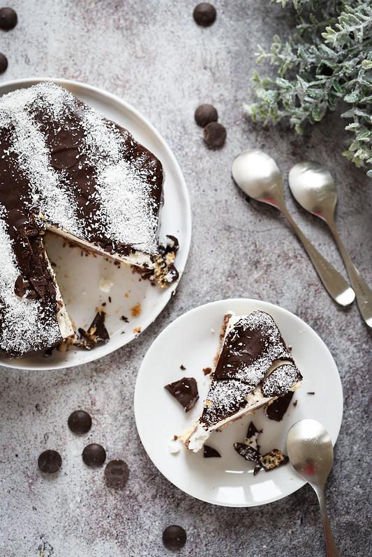 Entremets chocolat coco sans gluten