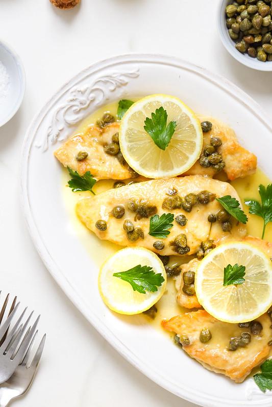 Poulet piccata sauce citron recette rapide video