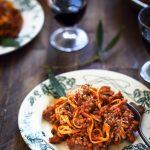 Pates sauce bolognaise vegetarienne lentilles champignons