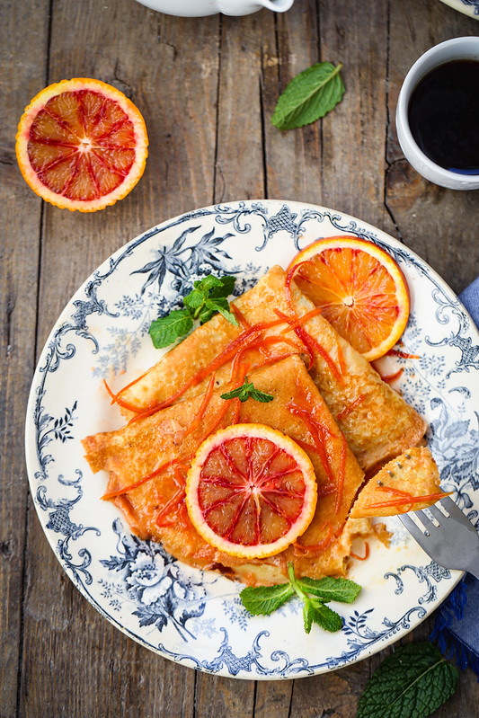 crepes orange facon suzette recette