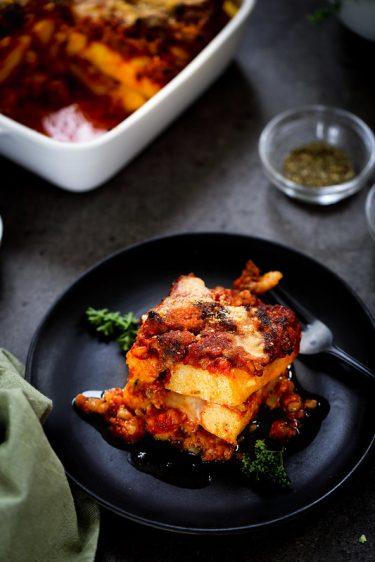 gratin polenta saucisse recette italienne video