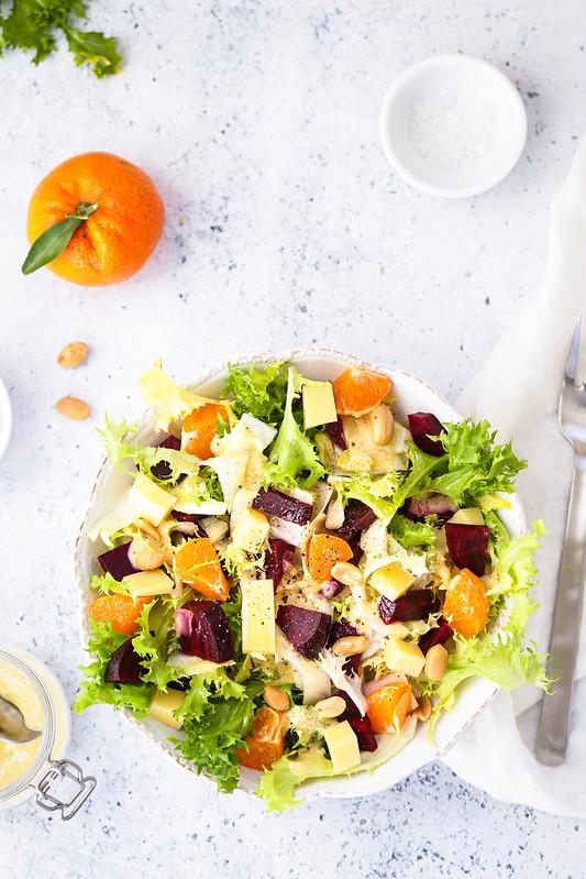 salade frisee betterave recette vegetarienne