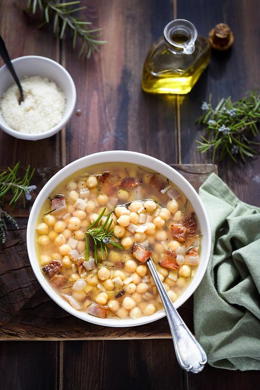 Soupe pois chiches crozets faon pasta ceci recette italienne