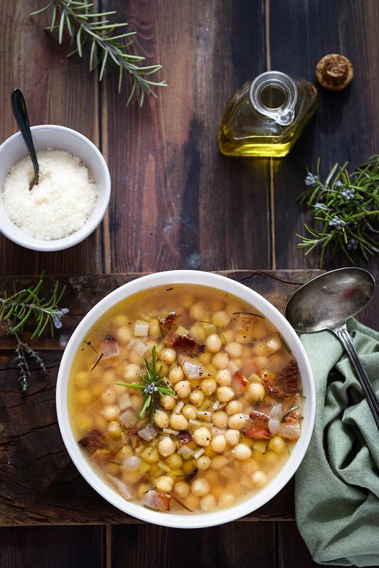 soupe pois chiches pasta ceci recette italienne