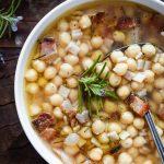 soupe pois chiches crozets recette italienne rapide