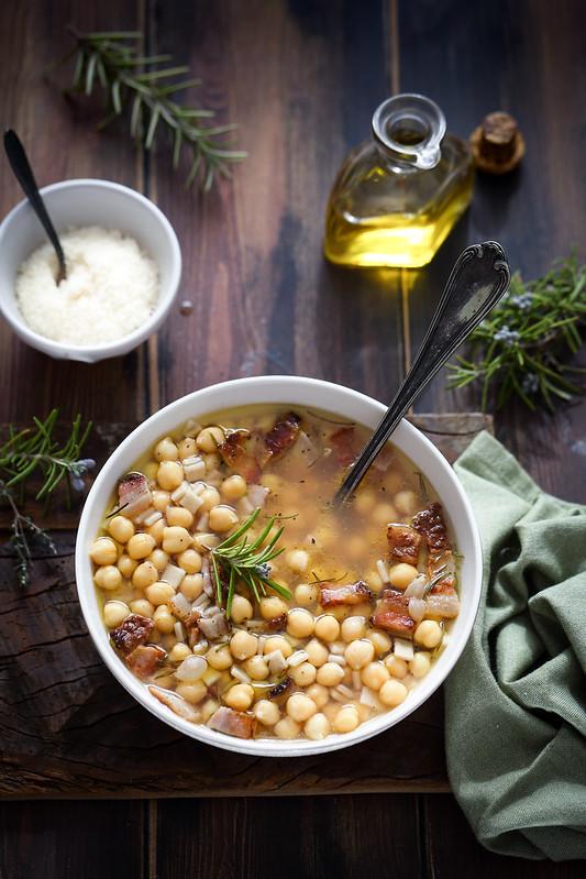 soupe pois chiches crozets