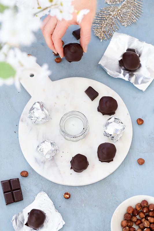 Truffes chocolat noisettes facon baci perugina