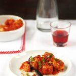 polpette poulet roti sauce sicilienne
