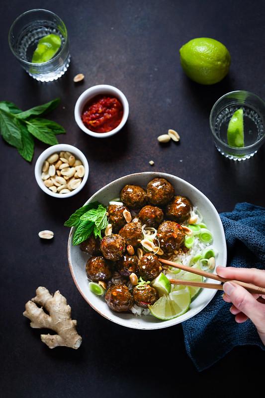 boulettes boeuf thai recette facile four