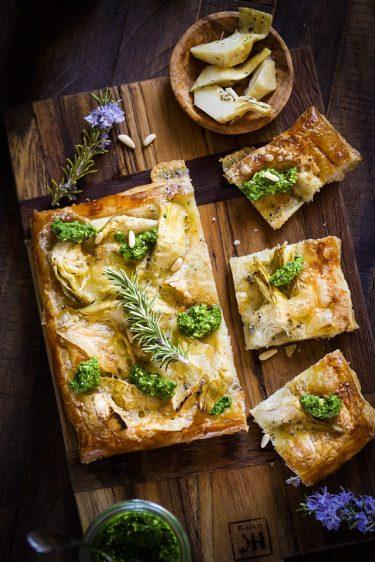 tarte fine artichauts fromage recette facile