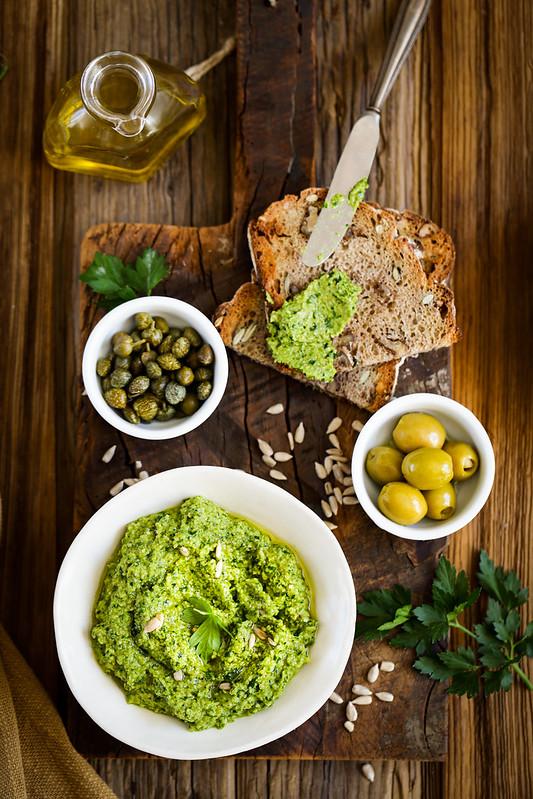 Tartinade creme olives recette italienne vegan