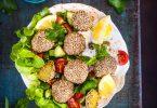 falafels verts cuits au four