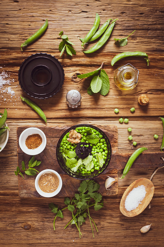houmous petits pois recette facile vegan
