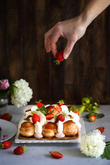 saint honore fraise recette classique chiboust