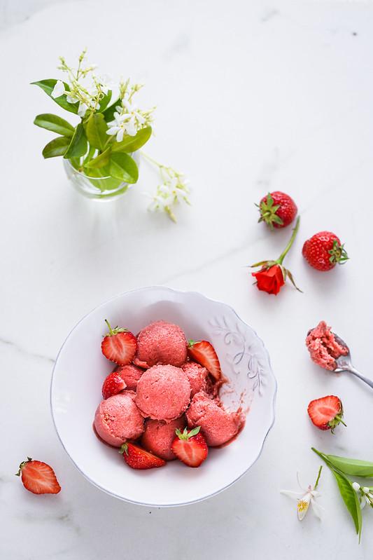 sorbet rhubarbe rotie recette facile