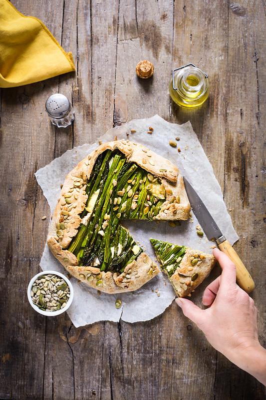 tarte rustique asperges fromage recette