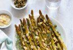 asperges roties capres amandes vegan