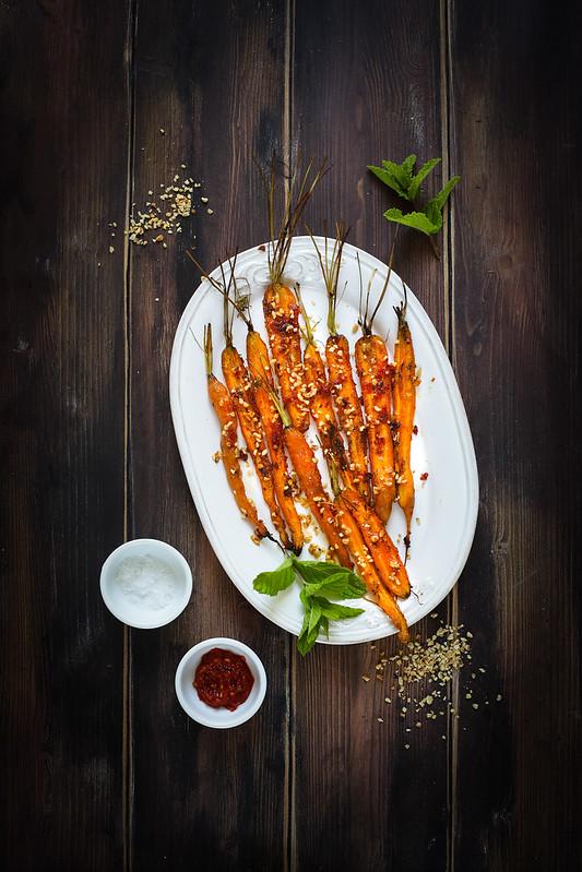 carottes roties noisettes