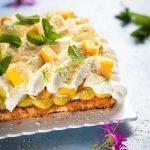 entremets ananas coco mangue sans gluten