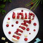 Entremets sans gluten framboise chocolat blanc
