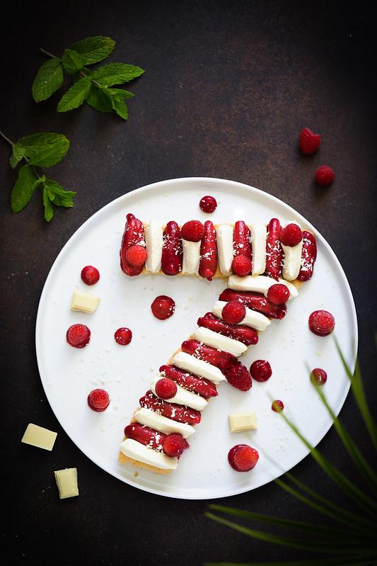 Gateau chiffre framboise chocolat blanc recette sans gluten