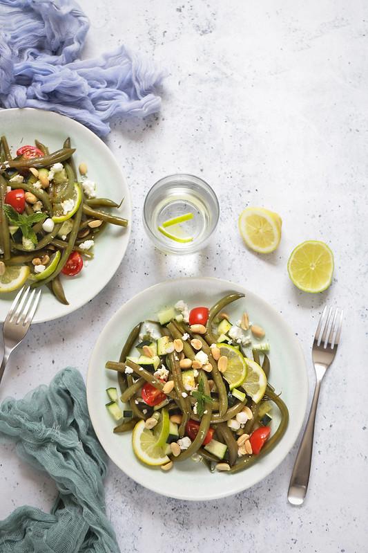 salade haricots verts citron vert feta concombre recette legre