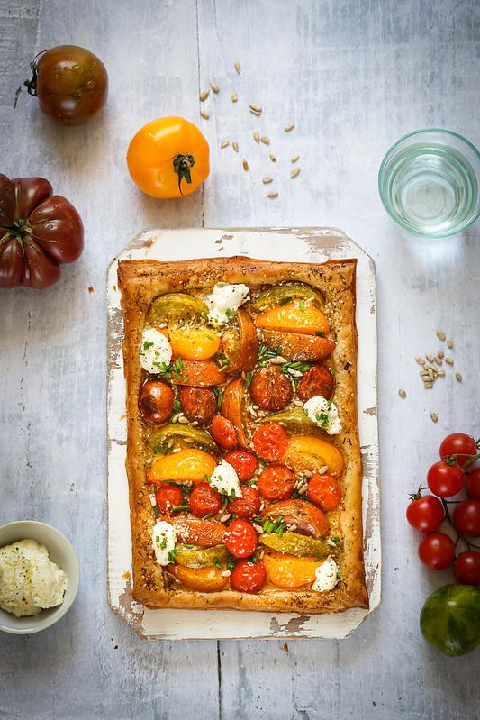 tarte fine tomates anciennes recette rapide