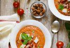 soupe froide tomates oignons amandes recette facile