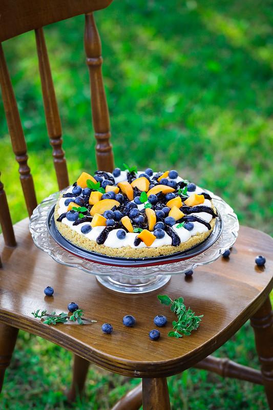 tarte sans four myrtilles yaourt