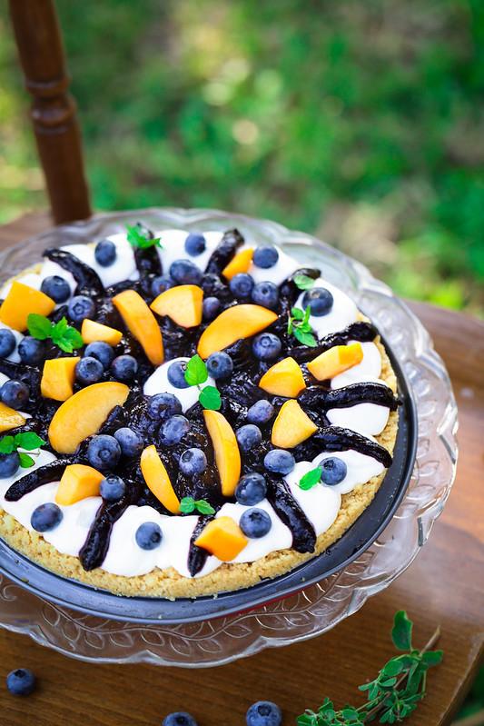 tarte myrtilles yaourt sans four recette facile