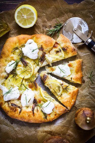 pizza citron anchois burrata recette facile