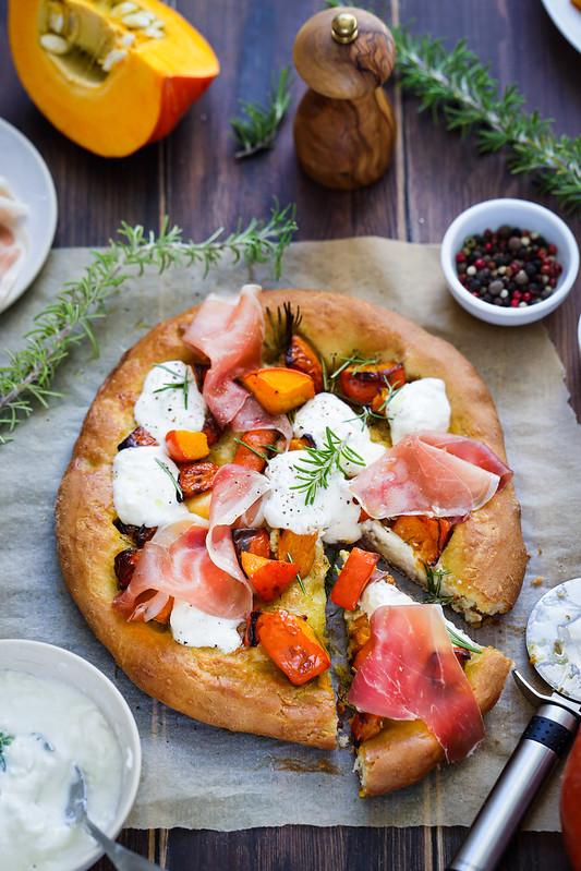 pizza potimarron burra jambon recette italienne video