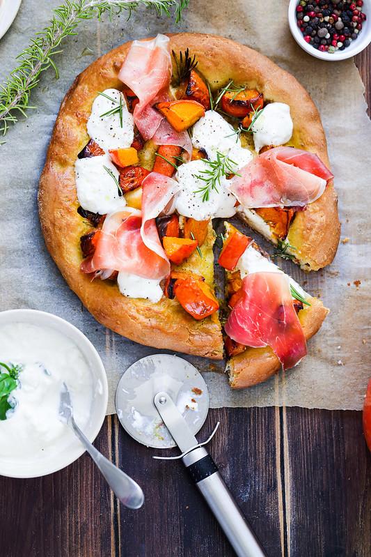 pizza potimarron burrata jambon parme recette facile video