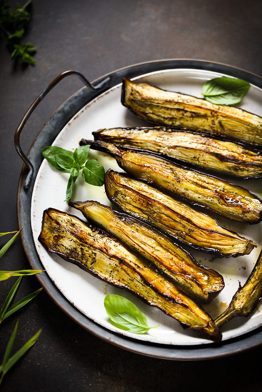 aubergines roties epices recettes