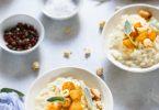 risotto gorgonzola poire balsamique noisettes recette rapide