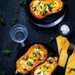 courge butternut farcie fromage recette vegetarienne